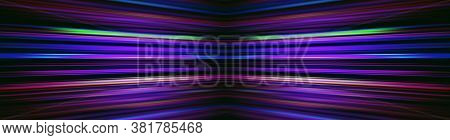 Colourful Converging Light Beams On A Black Background Banner
