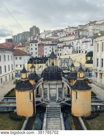 Architectural Landmark Manga Cloister In The City Of Coimbra In Portugal In Evening