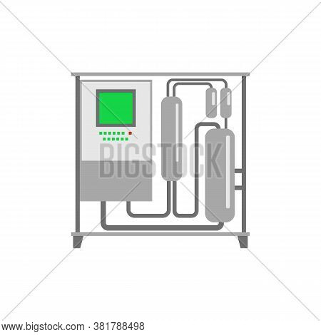 Winery And Winemaking Industry Equipment Flat Vector Illustration Isolated.