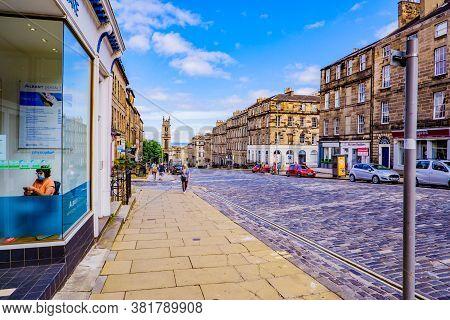 Edinburgh Scotland 6th August 2020 Howe Street In The Capital City Edinburgh Looking Towards A Churc