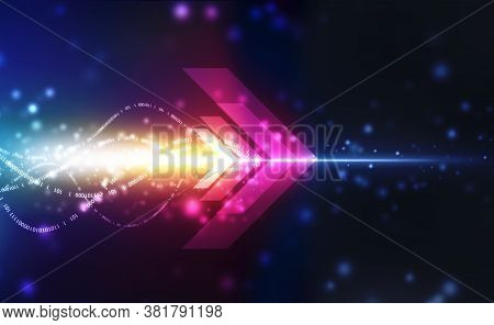 Abstract Future Digital Speed Technology Concept, , Futuristic Speed And Motion Blur Light Rays With