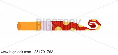 Cartoon Party Blower Horn Isolated On White Background