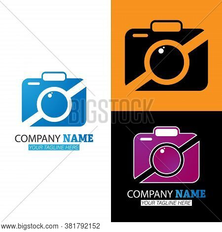 Photo Logo. Vector Illustration For A Logo, Icon, Emblem Or Sticker Isolated On A White Background.