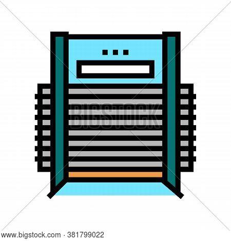 Veneer Dryer Machine Color Icon Vector. Veneer Dryer Machine Sign. Isolated Symbol Illustration