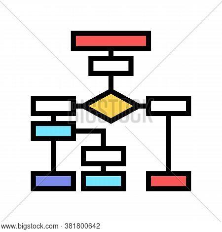 Company Employee Hierarchy Color Icon Vector. Company Employee Hierarchy Sign. Isolated Symbol Illus