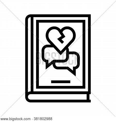 Drama Genre Line Icon Vector. Drama Genre Sign. Isolated Contour Symbol Black Illustration