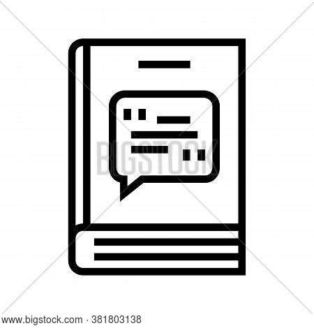 Poetry Genre Line Icon Vector. Poetry Genre Sign. Isolated Contour Symbol Black Illustration