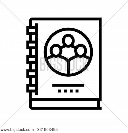 Company Statute For Employees Line Icon Vector. Company Statute For Employees Sign. Isolated Contour