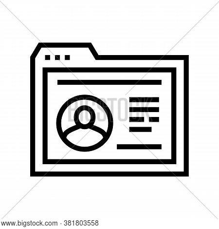 Employee Cv Web Site Line Icon Vector. Employee Cv Web Site Sign. Isolated Contour Symbol Black Illu