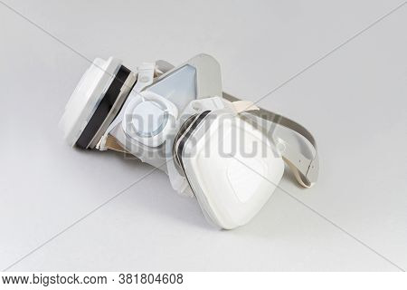 Half Mask Respirator Isolated Against White Background