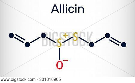 Allicin, Sulfoxide Molecule. This Compound Exhibits Antibacterial And Anti-fungal Properties. Skelet