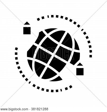 Rental House World Location Glyph Icon Vector. Rental House World Location Sign. Isolated Contour Sy