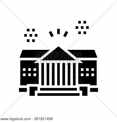 House Residence Glyph Icon Vector. House Residence Sign. Isolated Contour Symbol Black Illustration
