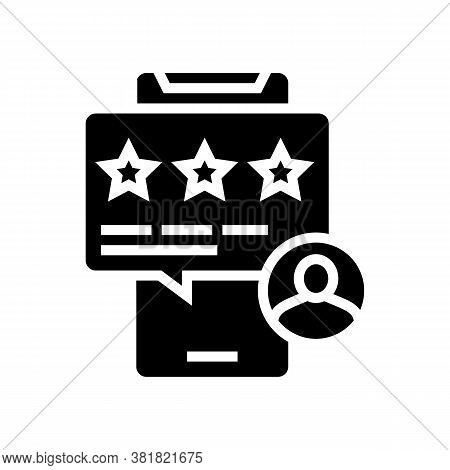 Apartment Review Phone App Glyph Icon Vector. Apartment Review Phone App Sign. Isolated Contour Symb