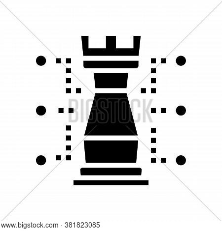 Chess Tour Characteristic Glyph Icon Vector. Chess Tour Characteristic Sign. Isolated Contour Symbol