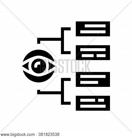 Tasks Vision Glyph Icon Vector. Tasks Vision Sign. Isolated Contour Symbol Black Illustration