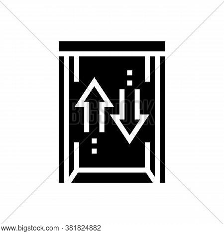 Lift Up And Down Glyph Icon Vector. Lift Up And Down Sign. Isolated Contour Symbol Black Illustratio