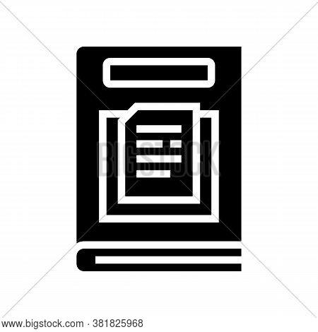Nonfiction Genre Glyph Icon Vector. Nonfiction Genre Sign. Isolated Contour Symbol Black Illustratio