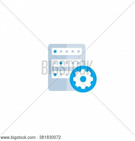 Mainframe, Server Settings, Vector Flat Icon, Eps 10 File, Easy To Edit