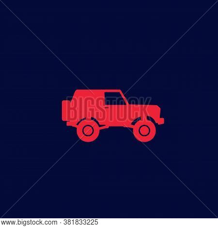 Off-road Car, 4wd Suv Vector Icon, Eps 10 File, Easy To Edit