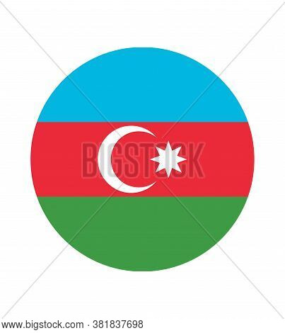 National Azerbaijan Flag, Official Colors And Proportion Correctly. National Azerbaijan Flag.
