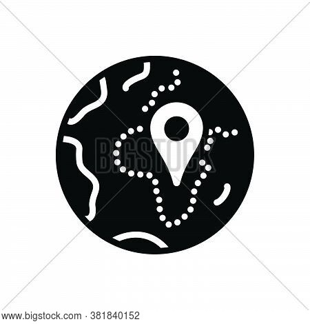 Black Solid Icon For Zone Area Sector Region Scope Realm Locality Geo-zone Gps Location Navigation P
