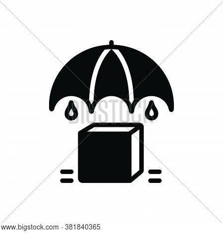 Black Solid Icon For Keep Maintenance Upkeep Put Manage Safe Umbrella