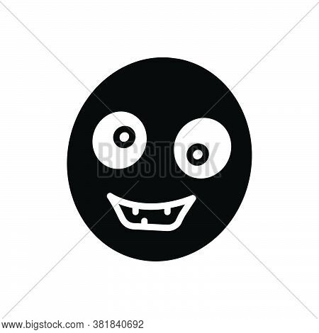 Black Solid Icon For Ugly Misshapen Ungainly Featureless Unsympathetic Unsightly Awkward