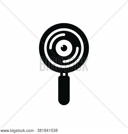 Black Solid Icon For Observation Watching Scrutiny Inspection Review Surveillance Declaration