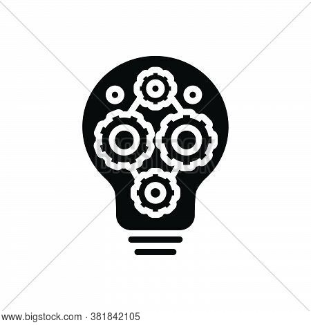 Black Solid Icon For Factor Component Decomposing Coefficient Setting Cogwheel Gear Mechanism