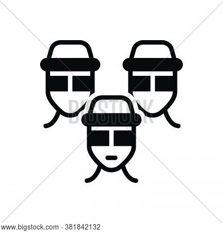 Black Solid Icon For Gang Smattering Clique Mafia Group  Team Tribe Organization Crowd