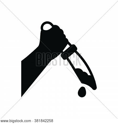 Black Solid Icon For Kill Murder Killing Knife Blood Assassination Slaughter Manslaughter Homicide