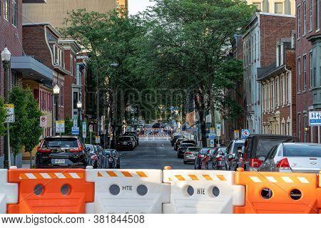 Barricaded City Street