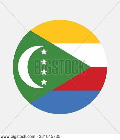 National Comoros Flag, Official Colors And Proportion Correctly. National Comoros Flag.