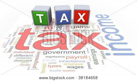 3D Buzzword Text Tax