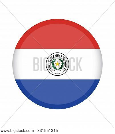 National Paraguay Flag, Official Colors And Proportion Correctly. National Paraguay  Flag.