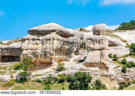 Famous Stone Sphinxes Of Bakhchisaray In Crimea