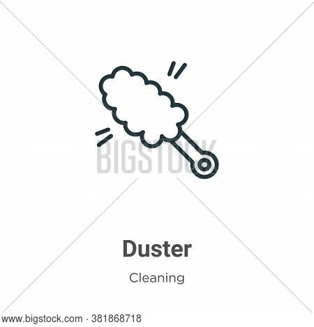 Duster icon isolated on white background from cleaning collection. Duster icon trendy and modern Dus