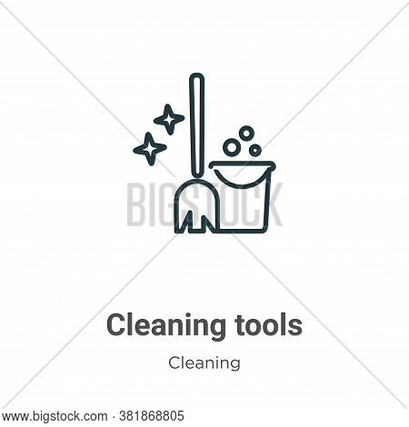 Cleaning tools icon isolated on white background from cleaning collection. Cleaning tools icon trend