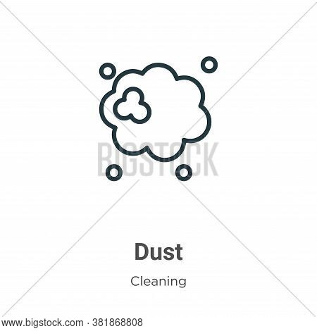 Dust icon isolated on white background from cleaning collection. Dust icon trendy and modern Dust sy