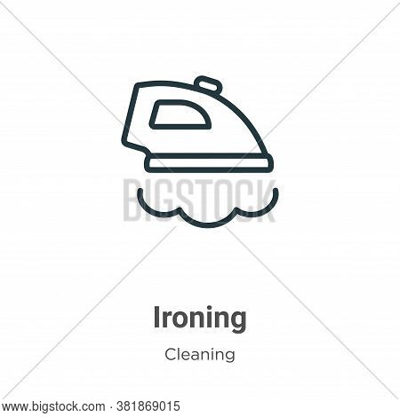 Ironing icon isolated on white background from cleaning collection. Ironing icon trendy and modern I