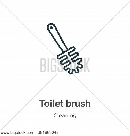 Toilet brush icon isolated on white background from cleaning collection. Toilet brush icon trendy an