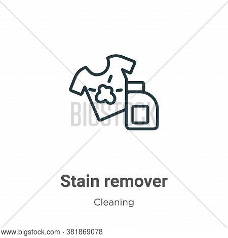 Stain remover icon isolated on white background from cleaning collection. Stain remover icon trendy