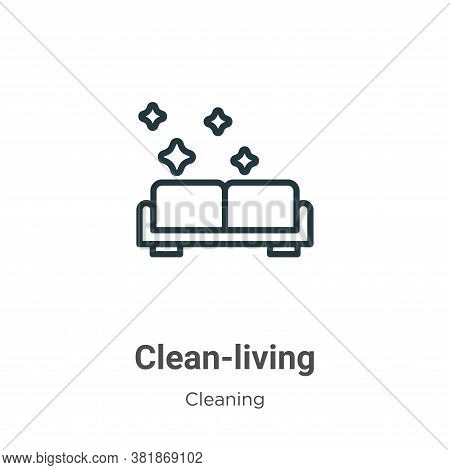 Clean-living icon isolated on white background from cleaning collection. Clean-living icon trendy an