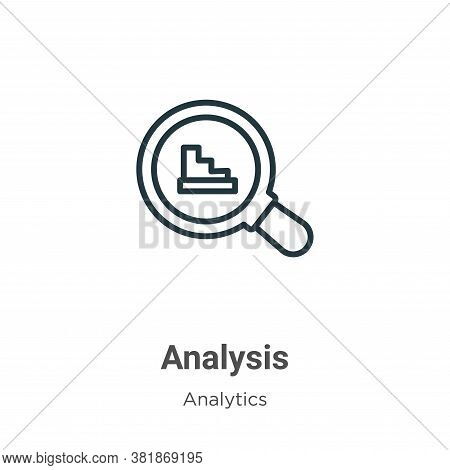Analysis icon isolated on white background from analytics collection. Analysis icon trendy and moder