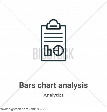 Bars chart analysis icon isolated on white background from analytics collection. Bars chart analysis