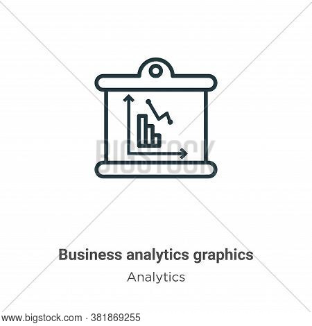 Business analytics graphics icon isolated on white background from analytics collection. Business an