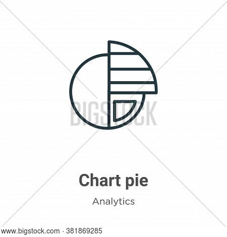 Chart pie icon isolated on white background from analytics collection. Chart pie icon trendy and mod