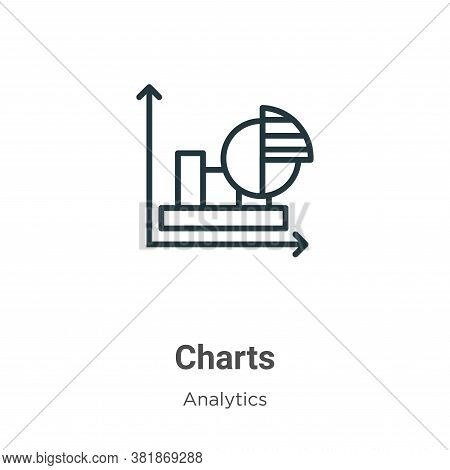 Charts icon isolated on white background from analytics collection. Charts icon trendy and modern Ch