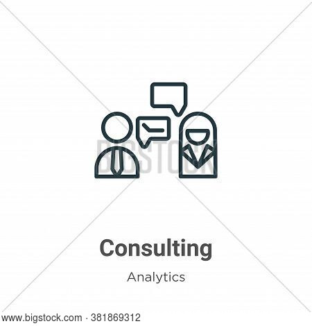 Consulting icon isolated on white background from business collection. Consulting icon trendy and mo
